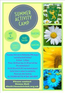 Summer Activity camp 2018