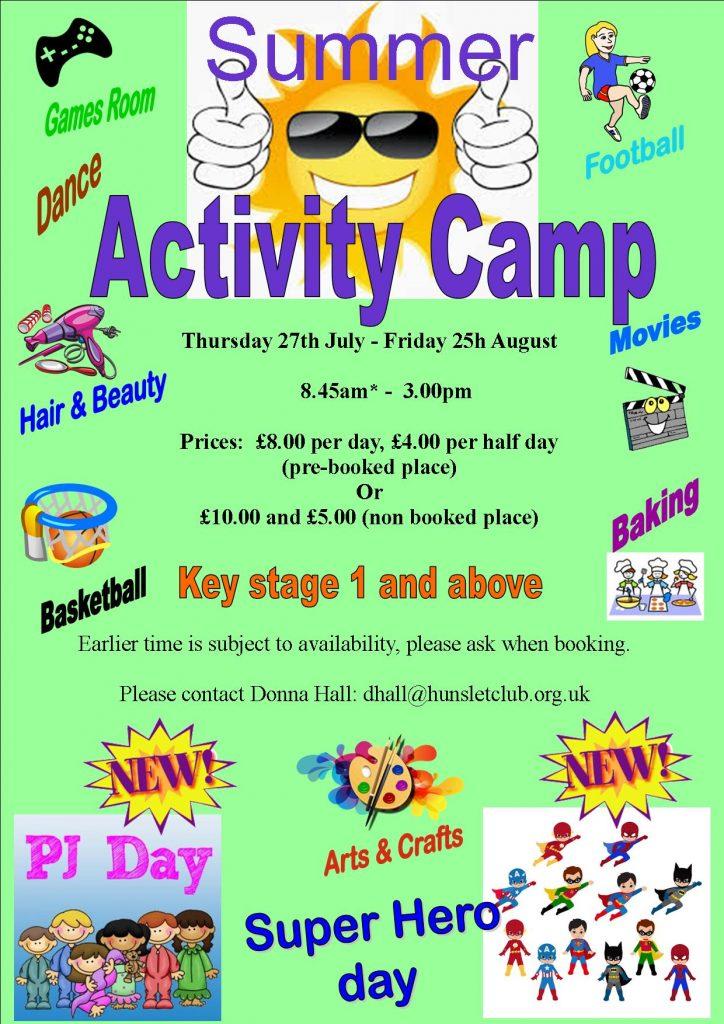 summer activity camp 2017