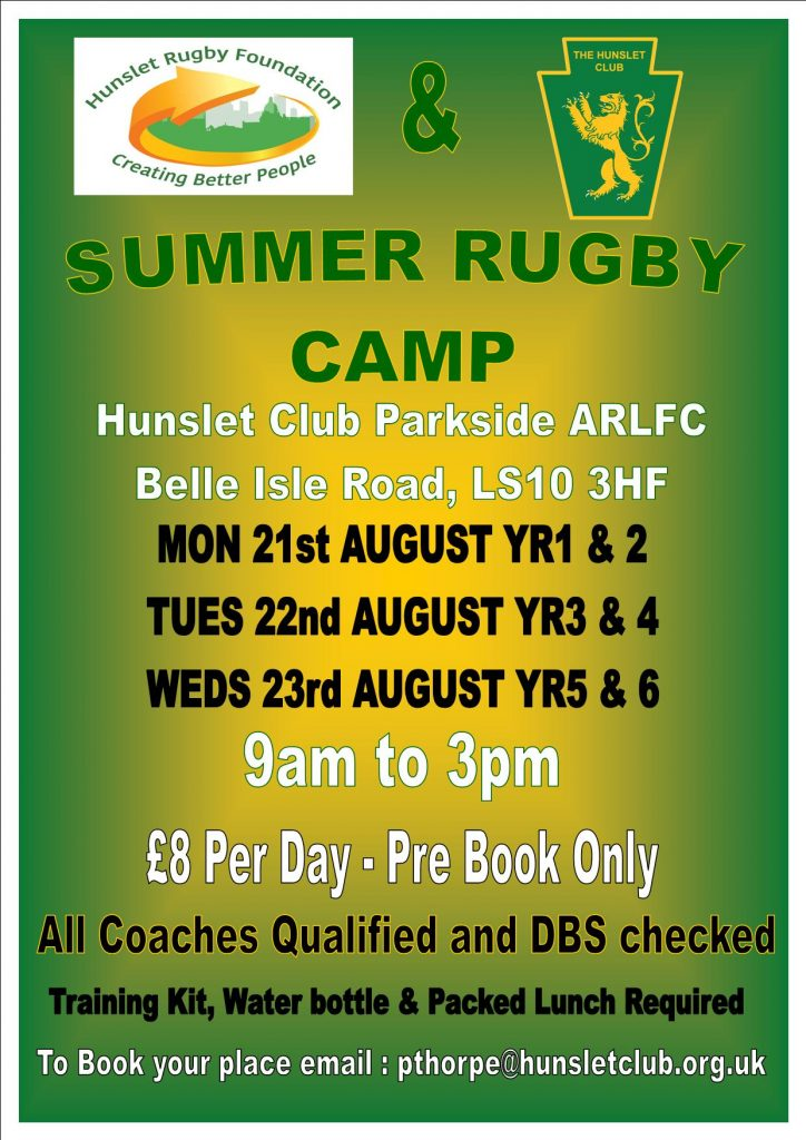 Rugby camp 2017